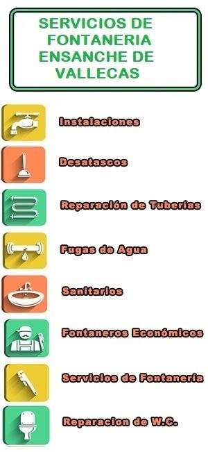 servicios de fontaneria en Ensanche de Vallecas