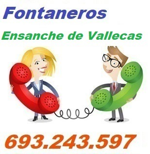 Telefono de la empresa fontaneros Ensanche de Vallecas